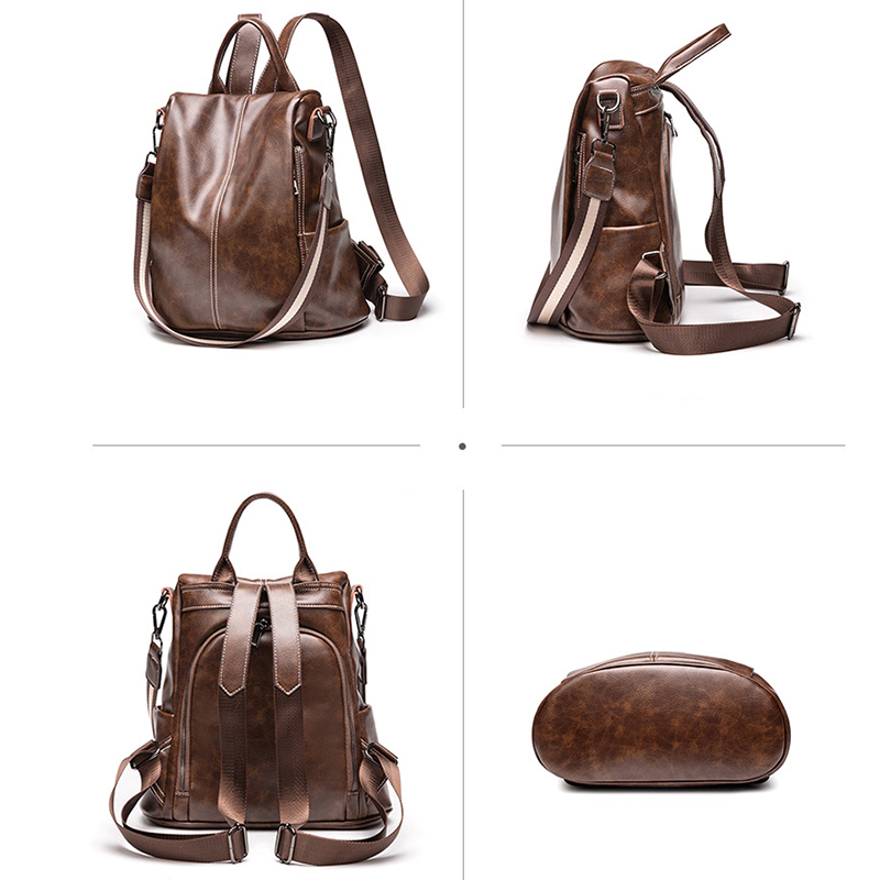 POMELOS Luxury Women Backpack Synthetic Leather Female Anti Theft Backpack Woman Ladies Backpack School Bags For Teenage Girls in Backpacks from Luggage Bags