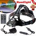 15000 Lumen Headlamp CREE XM-L 3 x T6 LED Headlight 18650 Light Charger Battery l7117