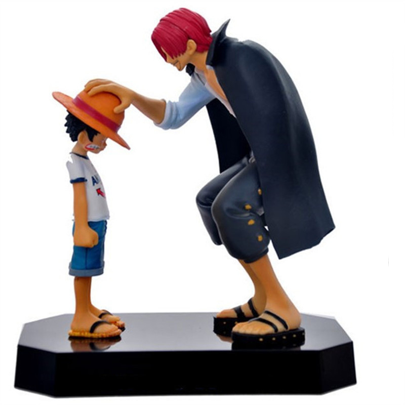 Action & Toy Figures 17cm Anime One Piece Children Monkey D Luffy & Shanks Action Figure Pvc Dolls Toys Reminiscence Decoration Collection Doll New