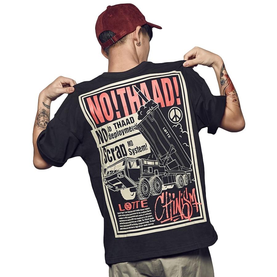 Anti War Fashion 2019 t Shirts Men Summer Tops Tees Printed Oversized t Shirt Men Streetwear Hip Hop Pride Tee Shirt Homme G5G37