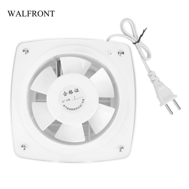 Walfront 220v Kitchen Bathroom Exhaust Fan Window Wall Mount Air Vent Ventilation Installation Mini