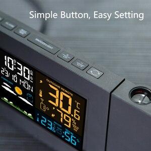 Image 4 - Protmex PT3391 Projectie Weer Klok, Radio Controlled Klok Weer Monitor Indoor/Outdoor Thermometer