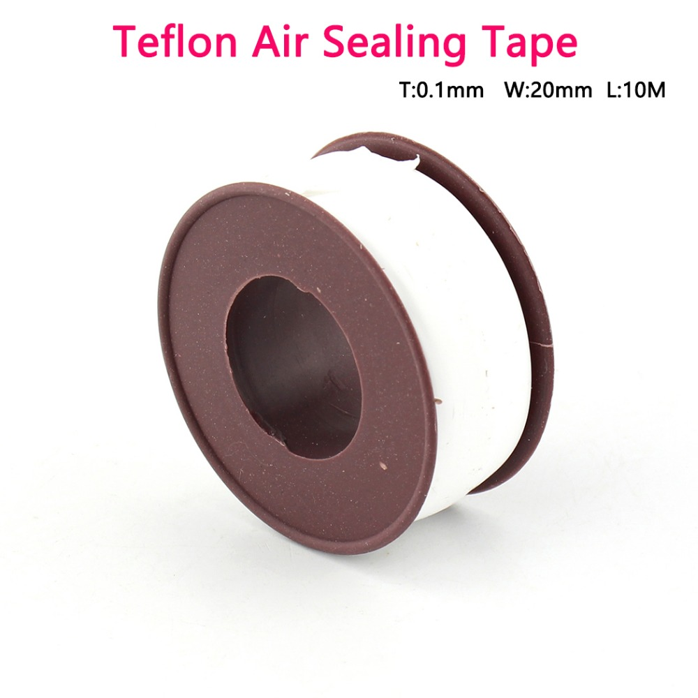 PCP Paintball Durable Airforce Teflon High Density Raw Tape10M Long Air Sealing Tape Replacement Kit 0.1mm Thickness 20mm Wide