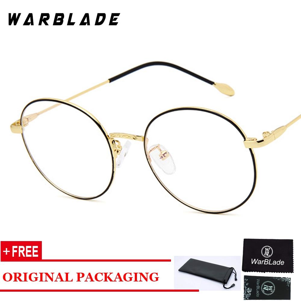 Mulheres Computador Óculos Redondos Óculos Óculos Transparentes para Os Homens Armação de óculos Oculos de grau de Moda Limpar Lentes Anti Blue Ray