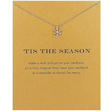 Fashion Gold Color Snowflake Pendant Necklace Women Minimalist Clavicle Chain Choker Necklaces Tis The Season Gift Card
