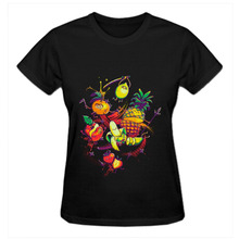 RTTMALL Punk Rock T Shirts Short Sleeve Cotton Fruit Salad Womens Apparel Geek T-shirts Newest Casual Summer Woman t shirts Sale