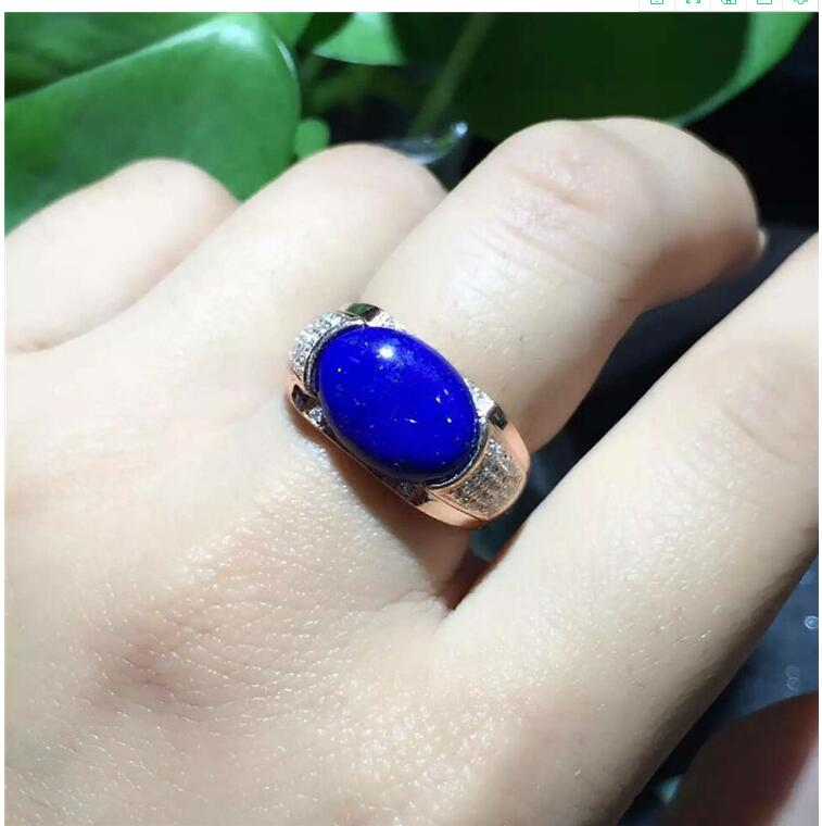 Natural Lapis ring Free shipping Natural real Lapis 925 sterling silver Ring Per jewelry 10*14mmNatural Lapis ring Free shipping Natural real Lapis 925 sterling silver Ring Per jewelry 10*14mm