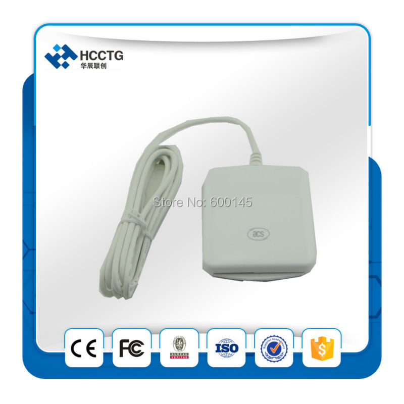 SCS-PC/SC Contact IC Chip Smart Card Reader Writer ACR38U I1 USB Support CT-API Programming Interface+2pcs SLE5542 Cards