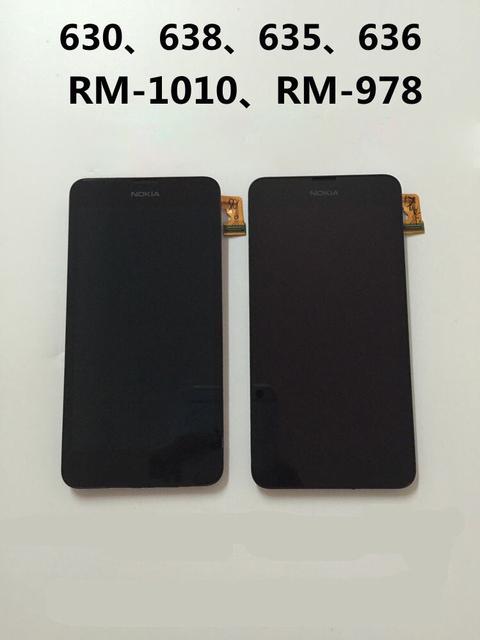 Para nokia lumia630/638/636. RM-1010/978 assembléia tela LCD touch screen com stent