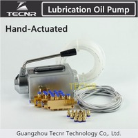 TECNR CNC lubricating oil pump hand actuated cnc router electromagnetic lubrication pump stainless steel body