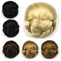 1PC 70g Synthetic Hair Professional Hair Pad Black Brown Blonde Hair Bun Bridal Styling Tools