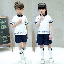 Summer 2019 new Chinese cotton and linen school uniforms for children performance wear kindergarten
