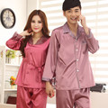 New Women For Pajamas Love Sleep Men Silk Pyjamas Satin Sleepwear Stitch Women Lounge Couples Pajama Set Plus Size 3XL
