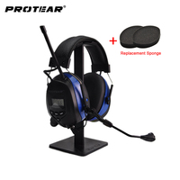 Protear NRR 25dB Bluetooth 4 3 Hearing Protector With Microphone Ear Defender Ear Protection With AM