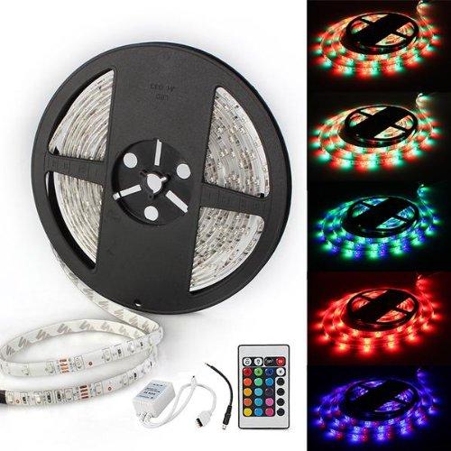mando diao mando diao give me fire TOYL Tira Luz Cinta Impermeable 300 LED SMD 3528 DC 12V RGB 5m + Mando A Distancia