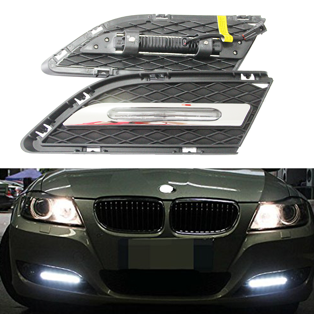 2x Dayline guide technology led daytime running drl light for For BMW E90 LCI Sedan, E91 LCI Touring 07-11 with E4 certification high quality light high power led daytime running lights for bmw e90 lci 3 series sedan 15w 2009 2012 freeshipping