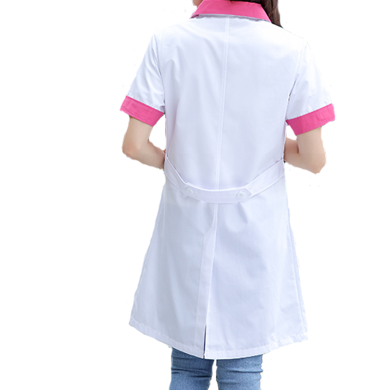 Creative Love Shadow Womens Fashion Scrub Set Medical Uniforms Mock-wrap Top With Adjustable Back Tie Doctor Clothes Nurse Uniforms Medical Work Wear & Uniforms
