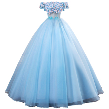 Ball-Gown Quinceanera-Dresses Sweet Flowers Illusion Robe-De-Mariee Vestido-De-Festa