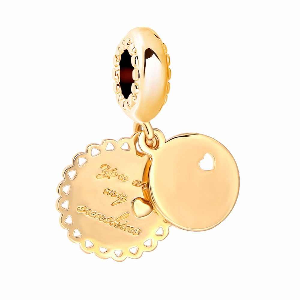 Europeu ouro oco para fora coração mãe família árvore clipe de metal talão encantos caber pandora pulseiras & pulseiras colar diy jóias el052