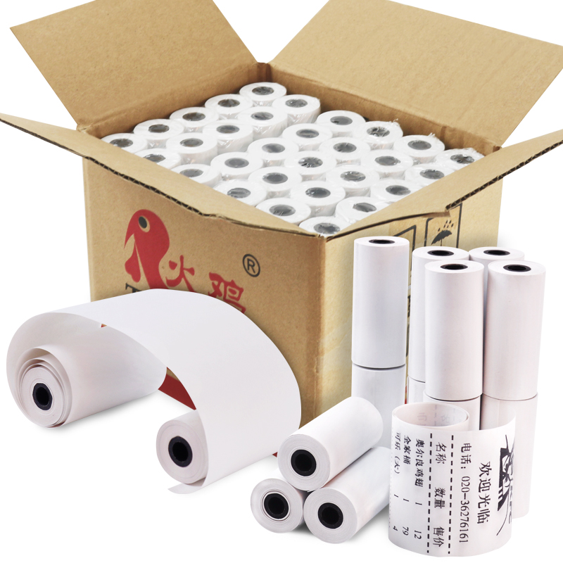 Thermal Paper receipt till rolls 57 mm x 25mm 60 Rolls Case for mini Mobile thermal