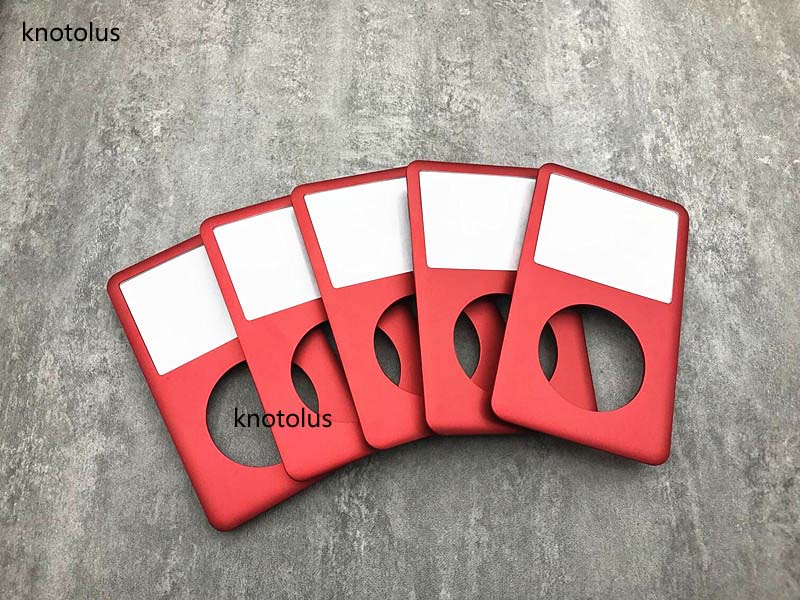 knotolus 5pcs new red color front faceplate housing case cover with clear lens for iPod 6th