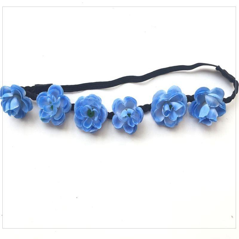 ✓Mujeres Niñas Boho flores cabeza bandas headwear Bandas para la ...