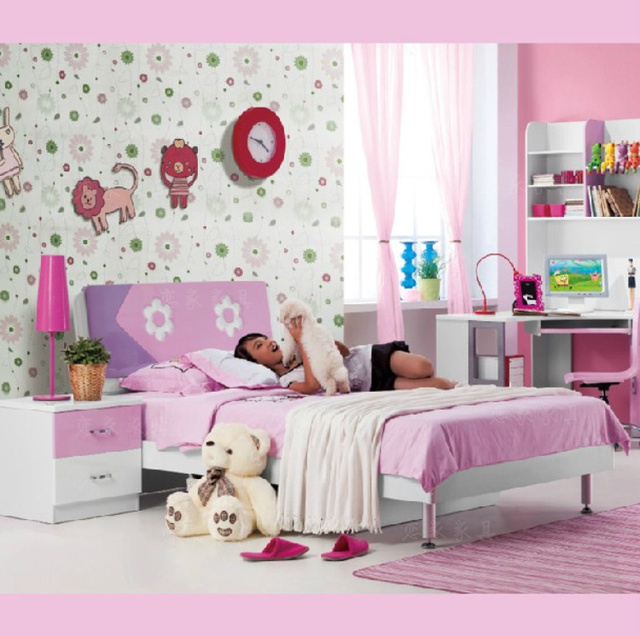 de los nios nias nios suite camas muebles de dormitorio color de la pintura cama