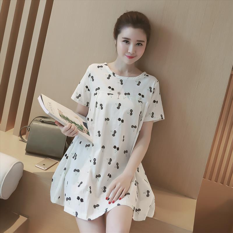 new summer maternity dresses print cherry womens dresses pregnancy dresses maternity clothing summer clothing 16453