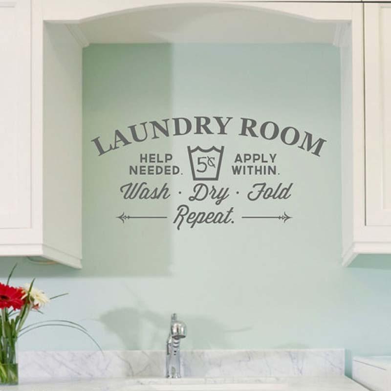 Creative Laundry Room Bathroom Bathtub Wall stickers Home Decor Toilet Decal DIY Removable Vinyl stickers JG2303