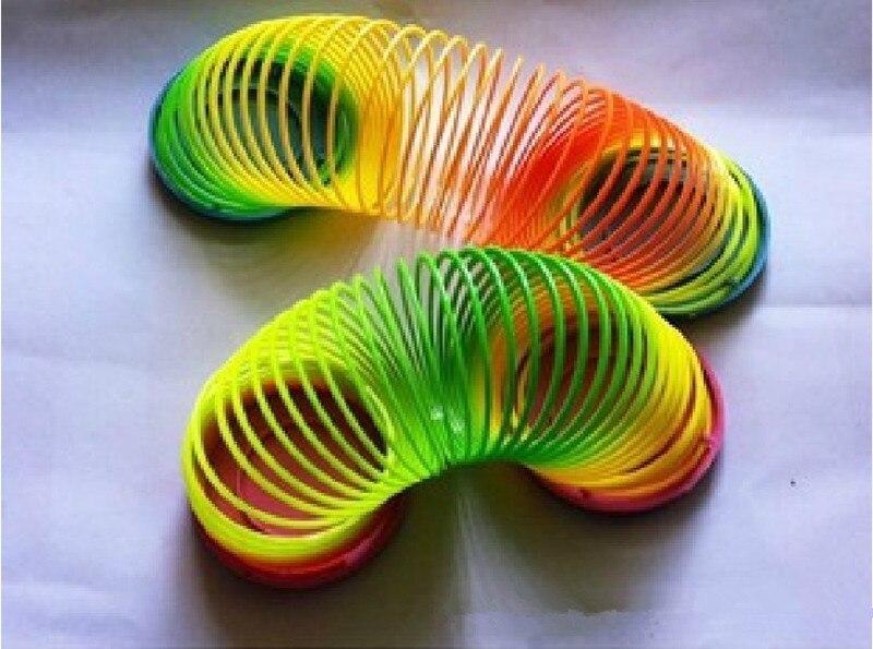 Magia Slinky Rainbow resortes de rebote divertido juguete del ...