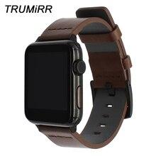 อิตาเลี่ยนผิวมันหนังสำหรับIWatch AppleนาฬิกาSE 38มม.40มม.42มม.44มม.Series 6 5 4 3 2 1นาฬิกาเหล็กสายคล้องคอ