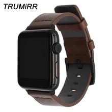 Italiaanse Vette Lederen Horlogeband Voor Iwatch Apple Horloge 38Mm 40Mm 42Mm 44Mm Serie 5 4 3 2 1 Horloge Band Staal Sluiting Strap Armband