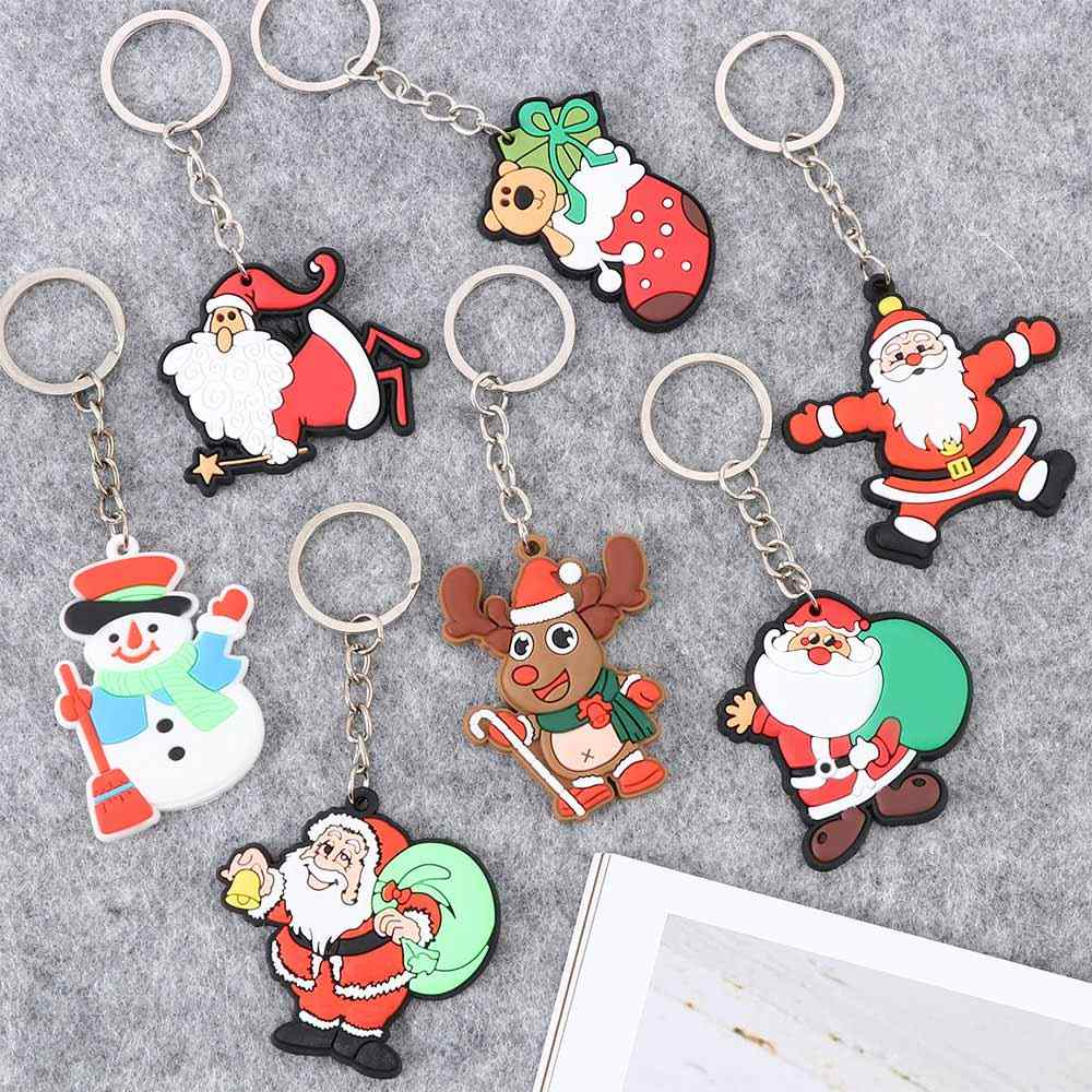 1 Pc Mini Pai Decorações Da Árvore de Natal Papai Noel Pingente Chaveiro Car Chaveiro Chaveiros de Carro Acessórios Interiores Do Carro