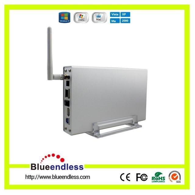 "WiFI Hdd 3.5 ""Dispositivos de Almacenamiento USB 3.0 de Alta Velocidad WiFi Inalámbrico Router Inalámbrico Caja Sata para Pc/Teléfono Móvil"