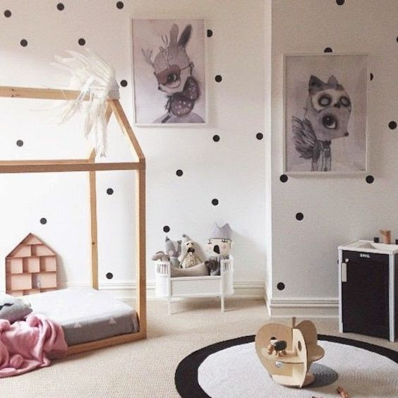 Lunares Etiqueta de la pared Etiqueta iWall Bebé Nursery Dots Tatuajes de Pared Extraíble Fácil Decoración de la pared Lunares Decoraciones de pared P2