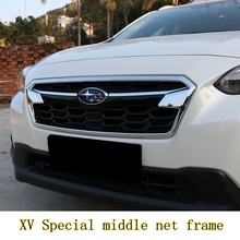 MONTFORD For Subaru XV Impreza 5-door 2017 2018 2019 ABS Chrome Exterior Front Middle Grille Grill Cover Trim Frame Decoration