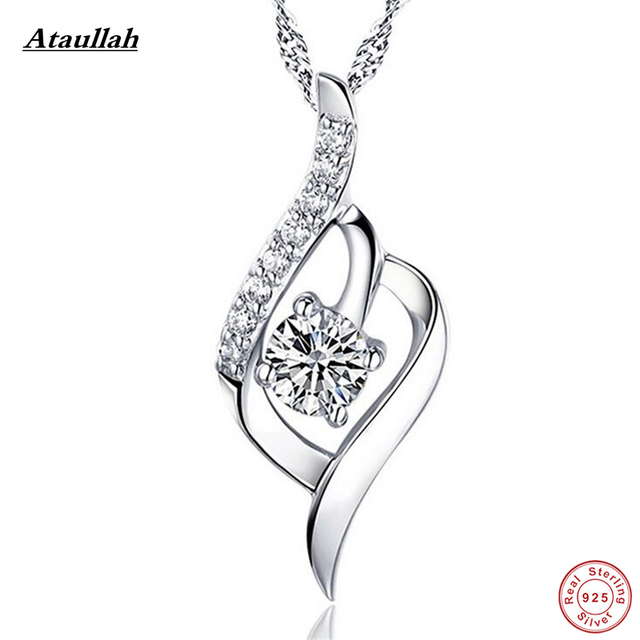 Ataullah Hot 925 Sterling Silver Crystal Pendants Luxury Jewelry Necklaces & Pendants Sterling 925 Jewelry Brand New SWN001-1