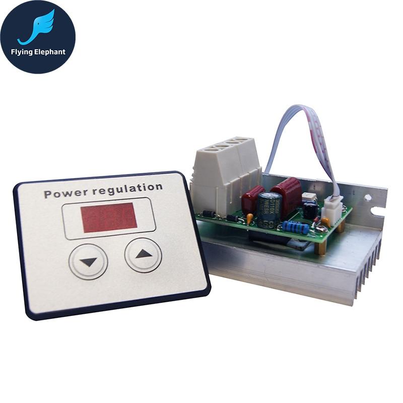 AC 220V 10000W 80A Digital Control SCR Electronic Voltage Regulator 10-220V Speed Control Dimmer Thermostat + Digital Meters