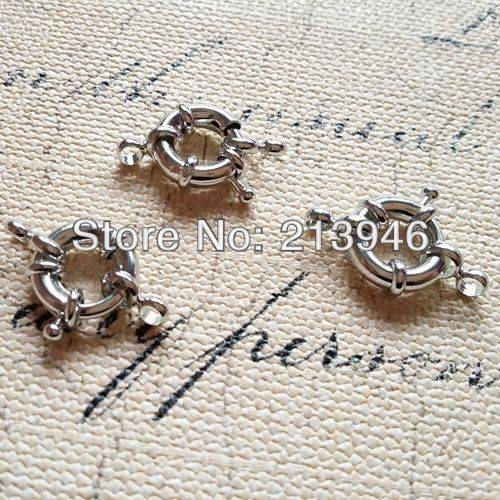 15Pcs/Pack Free Nickel ~ 13MM Nickel Color Jewelry Clasps Jewelry Findings Components