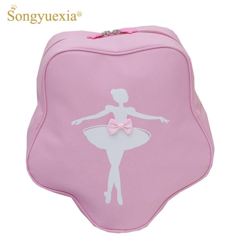1Pc Star Design Pink Ballet Bags For Girls Printed Child Backpack For Dance Ballerina Kids Bags Ballet Bag Princess Dance Bags