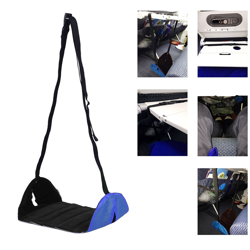 Newly Portable Lightweight Airplane Travel Footrest Foot Rest Hangmat Table Hanging Feet Leisure Pad Sports & Entertainment Camping & Hiking