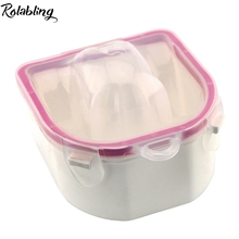 Rolabling Manicure Bowl Soak Finger Acrylic Polish Remove Dead Skin Tip Nail Care Treatment Clean Tray Manicure Tool
