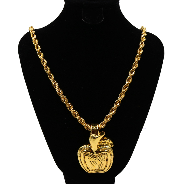 Apple pendant necklace nigerian fashion party design rose gold apple pendant necklace nigerian fashion party design rose gold color fashion light weight nigeria women pendant mozeypictures Image collections