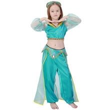 Child Deluxe Jasmine Prestige Costume Arabian Aladdin Girls Sexy Genie Costumes(China)  sc 1 st  AliExpress.com & Buy genies girl costume and get free shipping on AliExpress.com