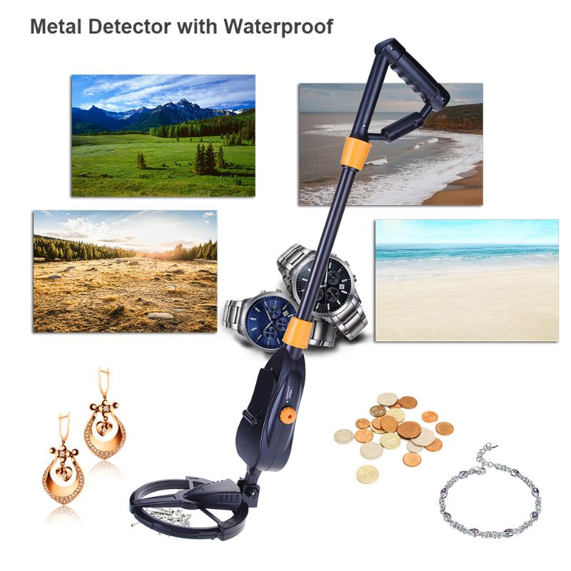 Underground Metal Detector with Waterproof Search Coil Gold Digger Treasure Hunter Kids Metal Finder Seeking Tool rechargeable ar924 underground metal detector for gold digger treasure hunter with battery ar 924