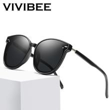 VIVIBEE Oversized Retro Cat Eye Big Sunglasses Women 2019 Vintage Oversize Square Ladies Sun Glasses Korean Men Goggles