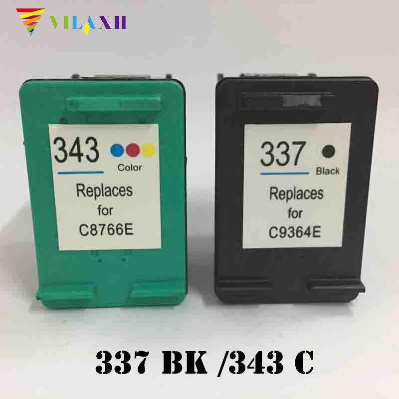Remanufactured Tintenpatrone 337 343 für HP Photosmart C4180 2575 8050 D5160 Deskjet...