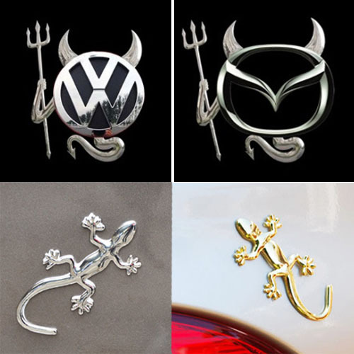 Metal gecko car stickers car decoration stickers 3d stereo car stickers little demon of car stickers auto supplies