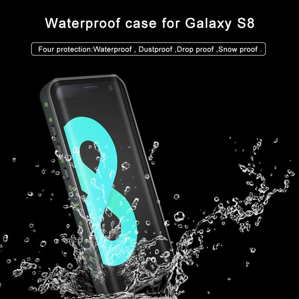 bilder für Original 100% Wasserdicht Fall Cover Outdoor Sommer Schwimmen Stoßfest Fall für Samsung Galaxy S8 S8 Plus
