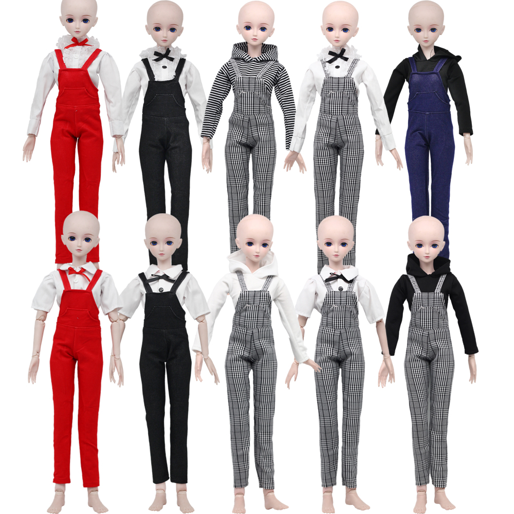 1//3 Doll Outfit Set T-shirt Plaid Skirt Stockings Party Gown For BJD SD Doll